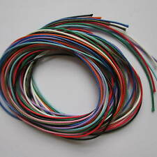 20 x 100cm Waxed Cord Strings 1mm In 10 Colours For Crafts Jewellery Making