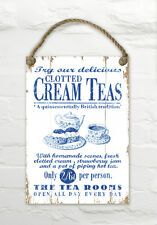 Martin Wiscombe Clotted Cream Teas Wall Hanging Decorative Wooden Sign Sea Beach