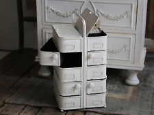 Small Shabby Chic Vintage Style Storage Drawers In Antique White Bathroom
