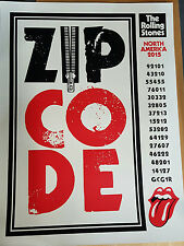 The Rolling Stones 2015 Poster/Lithograph-Zip Code Tour-2015