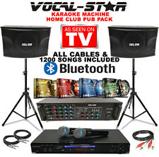 VOCAL-STAR VS-800 CDG DVD HD HOME PARTY KARAOKE MACHINE SPEAKER SET & 1200 SONGS