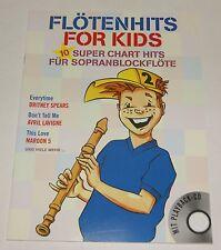 Flötenhits For Kids Band 2 Sopranblockflöte Notenbuch CD NEU