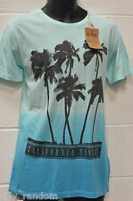 Mens Blue Beach Theme Short Sleeve T Shirt Top UK Size M from Easy NEW BNWT