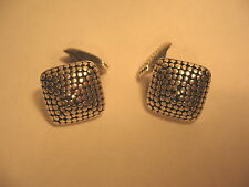 Cufflinks John Hardy Sterling Silver Dots Square Design 925 JH Signed
