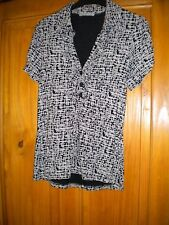 Marks and Spencer Blouse, Beige and Black, Size 8-10