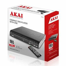 Akai A51002 Compact DVD Player with USB - Multi Region - Brand New UK Stock