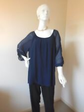 AUTOGRAPH NAVY BLOUSED  TOP SIZE 18  NEW