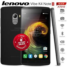 "New Unlocked Lenovo Vibe K4 Note A7010 Black 4G LTE 5.5"" Octa Core Mobile Phone"