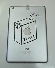 1 x Apple Juice Decal - Vinyl Sticker for iPad Mini 1 2 3 4 Funny Carton Box