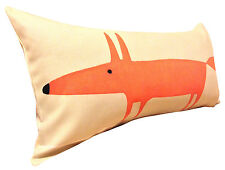 Scion Mr Fox Cream Neutral & Paprika Bolster Cushion Cover 24'' x 12''