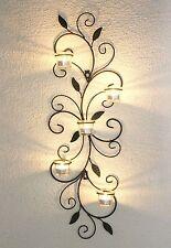 Wandteelichthalter 131001 Teelichthalter aus Metall 75cm Wandleuchter Kerze
