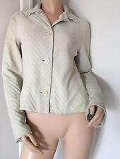 CAVALLI Unique Pleated Cream Suede Jacket (Size IT40) (retail £650)