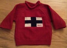 NWOT NEXT Baby Boys Red, Blended Lambs Wool Jumper Size 3-6 Months