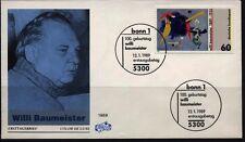 """BRD FDC MiNr 1403 (1) """"100. Geburtstag von Willi Baumeister"""" -Gemälde-Kunst-"""