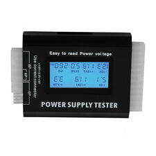 Digital LCD PC Computer PC Power Supply Tester 20/24 Pin SATA HDD Testers  OK