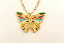 New Animal-themed Cosmetic Jewellery Classy Butterfly Long Necklace (Golden)