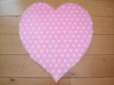 Cute Girls Pink Polka Dot Hearts Small Size Rugs Fluffy Bedroom Floor Mats Cheap
