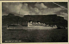 Schiffe ~1930 Mail Boat Ship Table Bay Südafrika South Africa Postcard used