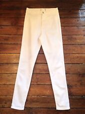 Miss Selfridge Skinny High Waist Jeans White   Size 12 W30 Leg 32 Pp86