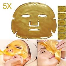 5pc Gold Bio Collagen Crystal Facial Mask Anti-aging Hydrating Face Care Girl BA