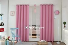 MOROCCAN SOLID Blockout Curtain : LIGHT PINK 140cm x 233cm