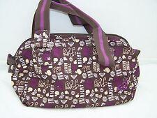 Roxy handbag in brown beige purple cream short handles