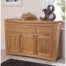 Crescent solid oak dining room furniture large storage sideboard