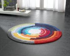 100 baumwolle runde badteppich badezimmer vorleger matten ebay. Black Bedroom Furniture Sets. Home Design Ideas