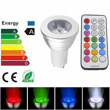 4W RGB GU10 16 colors changing led Lamp spot light Bulb +FREE Remote Control NEW