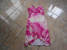 EB098 Tally Weijl Sommer Träger Volant Kleid M rosa weiß Geblümt Sehr gut
