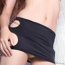 Sexy Lingerie Mini Skirt Women Black Bodycon Dance Clubwear Micro Short Dress