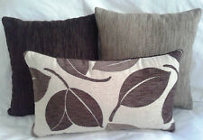 3 x Scatter Cushion Covers -3 tones of Brown 40 or 45cm.& 50x30