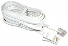 New Telephone Phone Modem Fax Router Cable Lead Cord White RJ11 BT Sky - 5 Meter