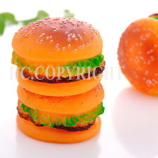 Hamburger Shape Pet Dog Toy Puppy Chews Squeaky Squeaker High Quality Rubber Toy