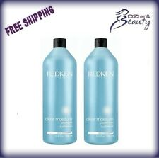 Redken Clear Moisture Shampoo and Conditioner 1000ml 1 Litre Duo Pack