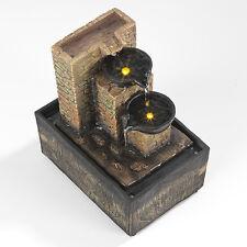 Zimmerbrunnen Dekoration Kaskaden mit LED Beleuchtung Zimmer Deko Wasserspiel