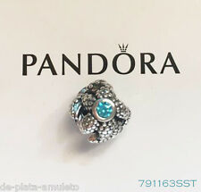 PANDORA Charm Sterling Silver ALE S925 STARFISH TURQUOISE CZ 791163SST