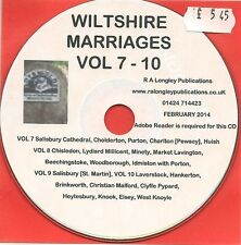 Wiltshire Marriages Volume 7-10 CD