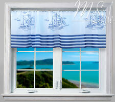 Cafe voile net curtain Sails Nautical Slot Top for Bathroom Yacht Ready made