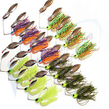 16x Double Blade Spinnerbaits Spinner Bait Fishing Lures Buzzbait COD BASS BARRA