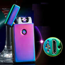 USB Electric Rechargeable Lighter Dual Arc Flameless Cigarette Windproof Lighter