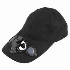 Summer Sport Outdoor Hat Cap with Solar Sun Power Cool Fan For Cycling Black ID