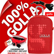 New Golla Universal Compact Digital Camera Case Bag Red for Canon Sony Samsung