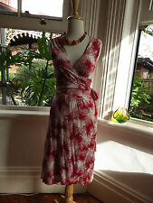 SMART JAG DOUBLE LAYERED FULL WRAP RED DRESS S 10