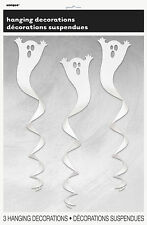 Hanging Ghost Swirl 3PK Halloween Party Supplies Decoration Prop Scary Creepy
