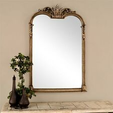 antiqued champagne silver wheat jacqueline neiman marcus horchow wall mirror 43h