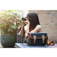 Women Vintage Canvas DSLR Camera Bag Shoulder Messenger Bag For Canon Nikon Sony