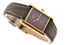 Vintage Cartier Tank 925 Argent Gold Plated Manual Wind Ladies Watch 399