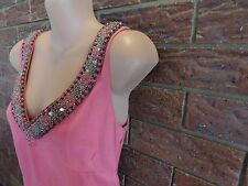 Ladies pink silk/linen Boden dress size 12 R