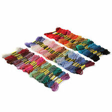 100 SKEINS COLOURED EMBROIDERY THREAD COTTON CROSS STITCH CRAFT SEWING FLOSS KIT